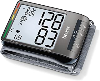 Beurer Wrist Blood Pressure Monitor, Fully Automatic Accurate Readings, Adjustable Wrist Cuff, XL LCD Display, BC81
