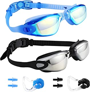 Spinosaurus Swim Goggles Swimming Goggles, Pack of 2 Professional Anti Fog No Leaking UV Protection Swim Goggles for Women Men Adult Youth