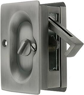 Emtek Pocket Door Privacy Lock Set, Antique Pewter