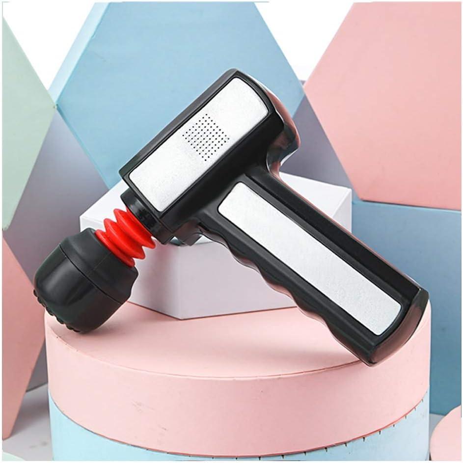 ZHANGYUEFEIFZ Pistola de Masaje, Músculo portátil Fascia masajeador Super Tranquila Dispositivo cargable con, Deep Tissue Profesional masajeador for aliviar el Dolor (Color : Black)