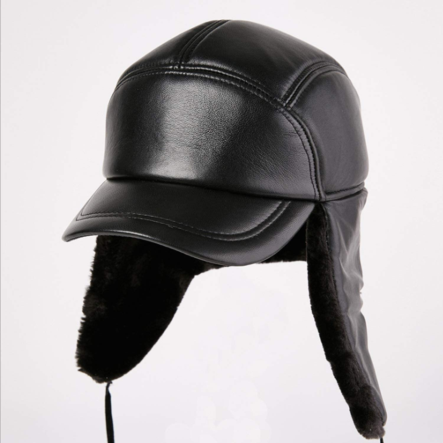 Special price Hat Male Winter It is very popular Leather Keeps ear Outdoor protection thick warm