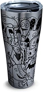 Tervis 1322107 Pen and Ink Insulated Tumbler with Wrap and Lid 16 oz Clear 30 oz - Stainless Steel Silver 1322119