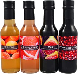 Infused Balsamic Quartetto - Fig, Pomegranate, Grapefruit & Peach (Pack of 4 x 150ml)