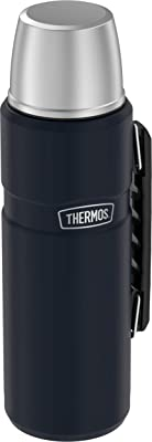 THERMOS Stainless King Beverage Bottle, 40 Ounce, Matte Blue