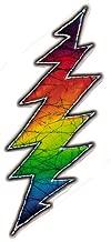 Grateful Dead Lightening Bolt - Small Bumper Sticker / Decal (1.25