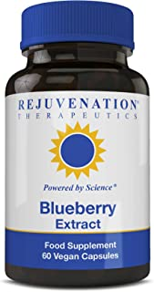 Organic Blueberry Extract Capsules, Vegetarian Antioxidant Supplement, 60 Count