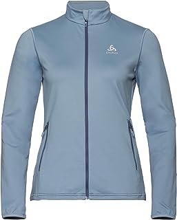 Odlo Women's Midlayer ALAGNA Zip Sweatshirt, Faded Denim, XL