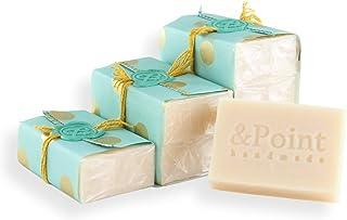 Jabón natural hecho a mano. Pastilla de jabón artesano de aceite de coco 100% y aceite esencial de lavandín. Jabones naturales orgánicos especialmente indicados para pieles sensibles. (1 ud x 100gr)