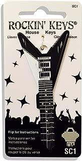 Rockin' Keys Black V Electric Guitar Shaped Schlage SC1