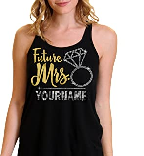Future Mrs. Custom Last Name Bride Flowy Tank Top by RhinestoneSash.com
