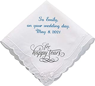 All Things Weddings, Personalized Embroidered Wedding Handkerchief for the Bride, Hankie