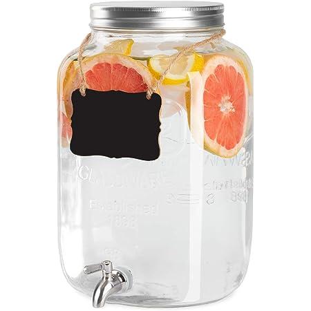 Circleware Yorkshire 2 Gallon Beverage Dispenser Clear Iced Beverage Dispensers Iced Beverage Dispensers