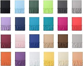 leevitex® Drap housse en jersey 100% coton dans diverses tailles et couleurs-Conforme à la qualité Oeko-Tex Standard 10...