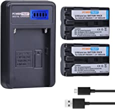 PowerTrust 2 Pack 1800mAh NP-FM500H Camera Battery and LCD USB Charger for Sony A57, A58, A65, A77, A99, A200, A350, A450, A550, A560, A700, A580, A900