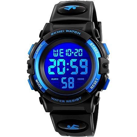 腕時計 子供用 キッズ腕時計 デジタル腕時計 男の子 女の子 ウォッチ ボーイズスポーツウォッチ人気 多機能 50メートル防水 アウトドア おしゃれ ボーイズ 入学祝い クリスマス 誕生日 プレゼント