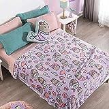 Pusheen The Cat Queen Size Blanket Super Soft Fluffy Fleece Bedding Decoration