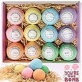 Boules de bain 12pcs coffret cadeau de bain moussant organique naturel, riche en bain moussant aux huiles essentielles, hydrate la peau sèche, donne des cadeaux aux femmes
