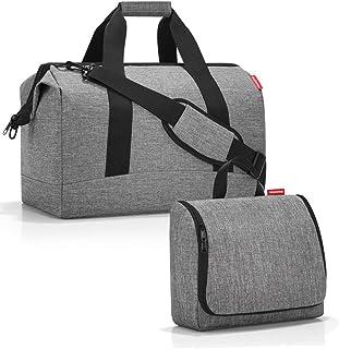reisenthel Allrounder L mit toiletbag XL und wahlweise mit extra Zugabe Reisetasche Waschtasche Twisted Silver