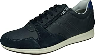 Geox Men Lace-Up Flats,Low tie Shoe Avery,Trainer,Sneakers,Removable Insole