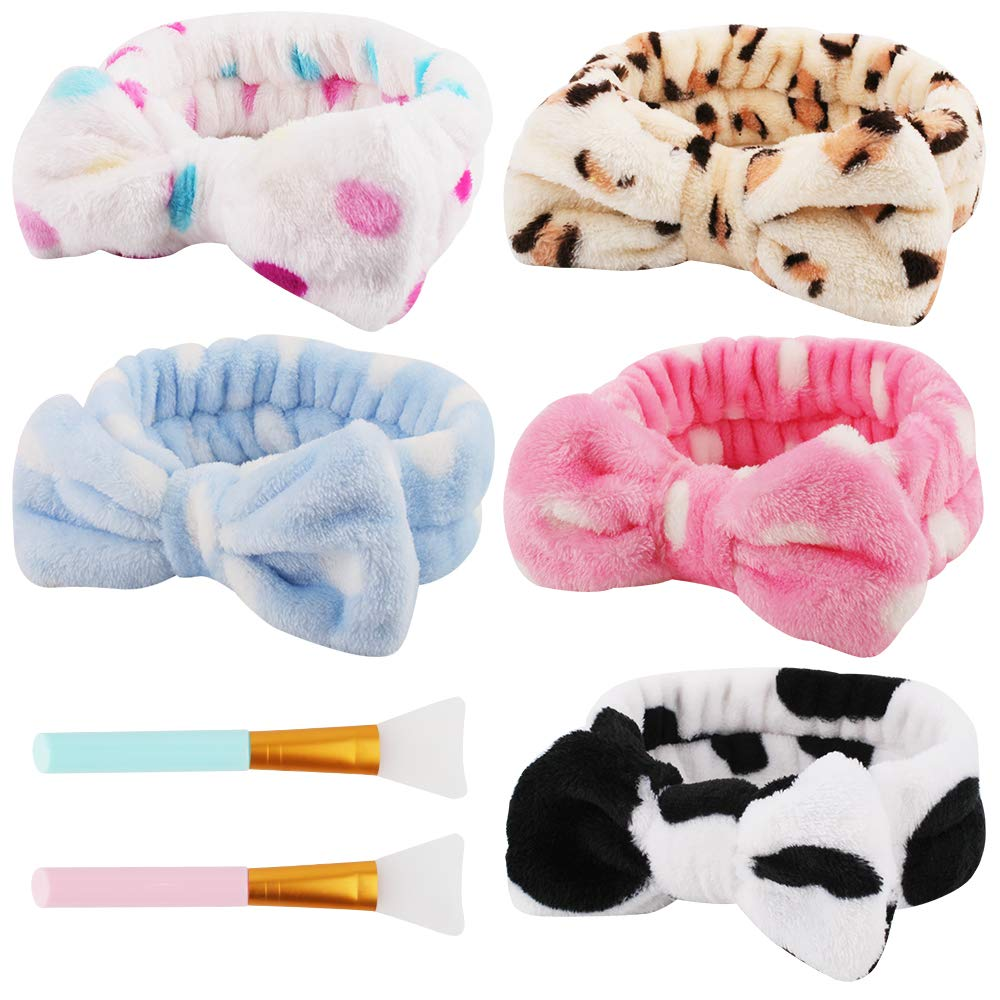 New life Taomoder Free Shipping New 5 Pcs Spa Headbands for Makeup Headb Washing Women Face