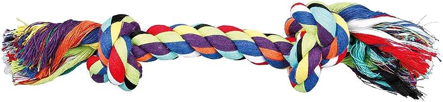Trixie 4011905032726 Bawełniana Linka do Zabawy dla Psa, 26 cm, Wielokolorowy