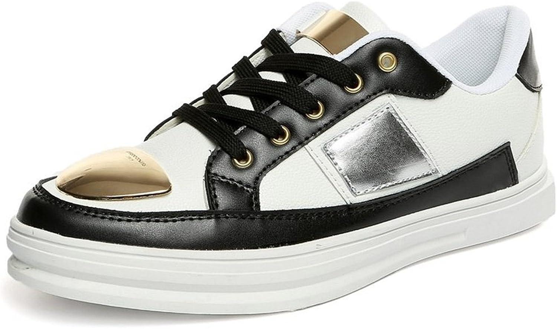 Mode för läderskor Sneeaker Flat Heel Close Toe Lace Lace