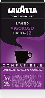 Lavazza 100 Capsule Compatibili Nespresso, Espresso Vigoroso, 10 Confezioni da 10 Capsule