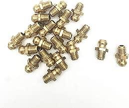 COMOK 20PCS Cupreous Straight Brass Zerk Grease Nipple Fittings Assortment Kit (M6)