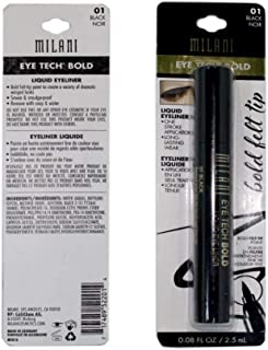 Eyeliner liquid Tech Bold, black Noir, milani