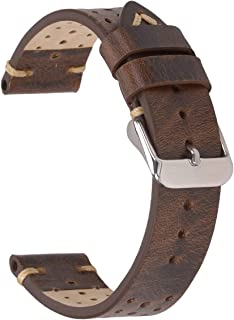 Leather Watch Straps,EACHE Rally Racing Leather Watch Bands Handmade Suede Leather Sport Perforated Watch Straps 18mm 20mm...
