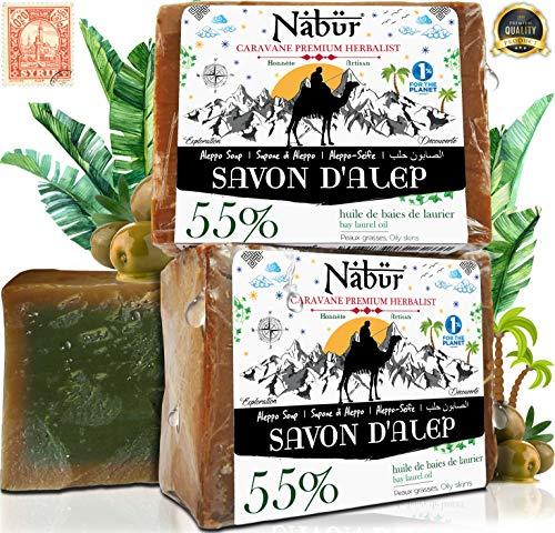 Nabür - 2 Jabónes Real Alepo | 55% Aceite Laurel