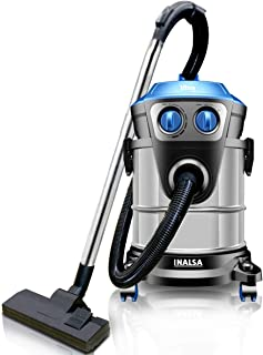 Inalsa Vacuum Cleaner Wet and Dry Ultra WD21-1600W with 3in1 Multifunction Wet/Dry/Blowing Hepa H13 Filtration & 21KPA Pow...