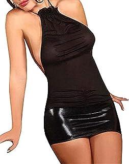 SxyBox Donne Sexy Mini Abito da Festa Erotico Biancheria Intima Prospettiva Lingerie Clubwear