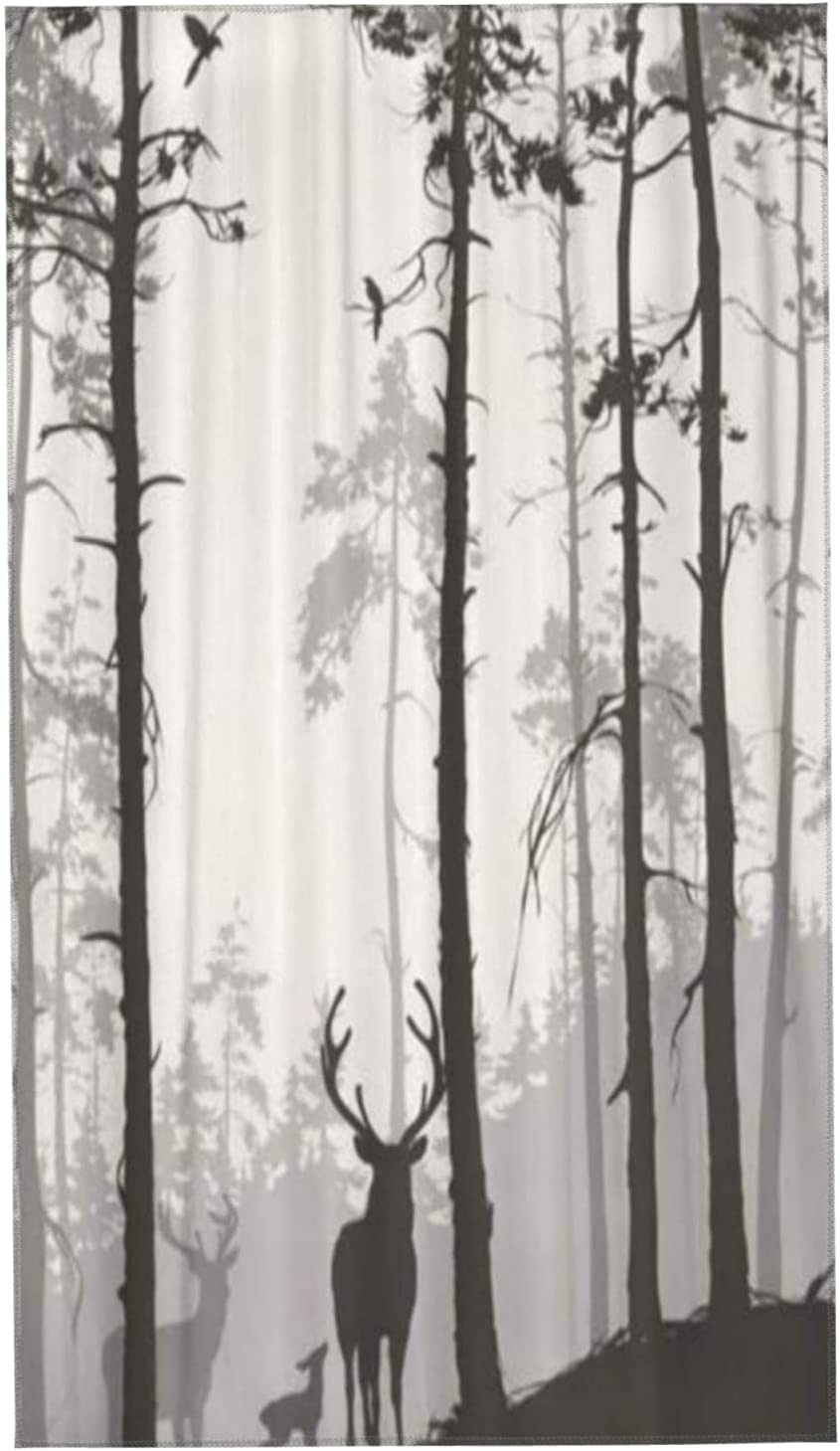 PANILUR latest Towels Direct sale of manufacturer Beach Silhouette Pine Forest B Deer Family and