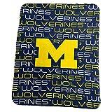 Logo Brands NCAA Michigan Wolverines Classic Fleece, One Size