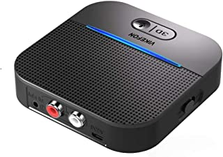 164ft Long Range Bluetooth Receiver Car Kit, HiFi Wireless Audio Adapter, Bluetooth 5.0 Receiver with 3D Surround aptx Low...