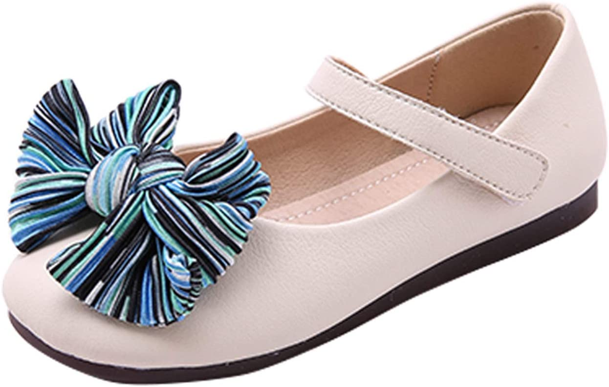 AIBAB Girls Shoes Ballet Flats Cute Princess Shoes Bow Shallow Mouth Shoes Flat with Soft Bottom One Word Buckle