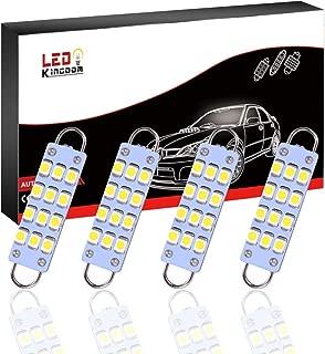 LEDKINGDOMUS 4pcs 44mm Festoon LED Bulb 12SMD Rigid Loop 1.73