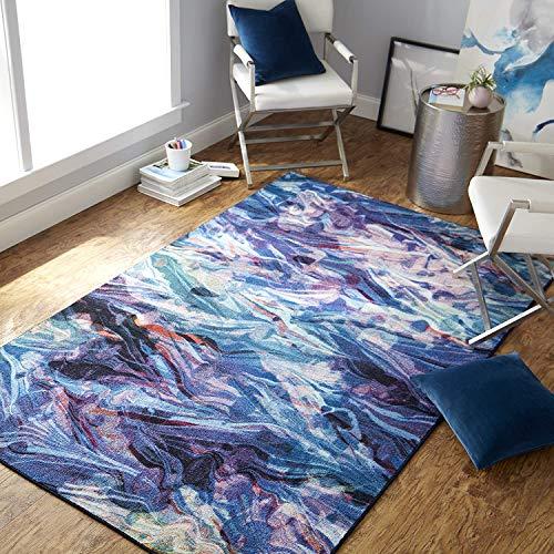 Mohawk Home Prismatic Florentine Paper Multicolored Abstract Marble Precision Printed Area Rug, 5'x8', Multicolor
