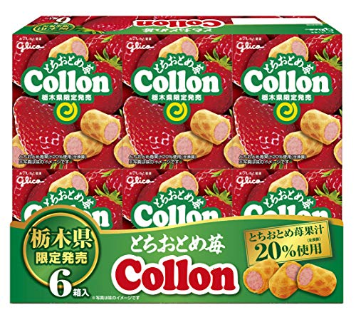 江崎グリコ とちおとめ苺コロン 6箱 ×4個
