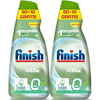 Finish Power Gel 0% Detergente Gel Lavavajilla con Certificado ...