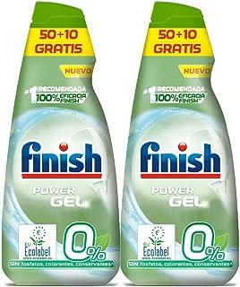 comprar comparacion Finish Power Gel 0% Detergente Gel Lavavajilla con Certificado Ecológico, 2 unidades - 120 Dosis