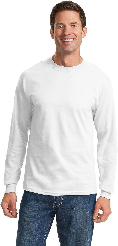 Port & Company Tall LS Essential T-Shirt-LT (White)
