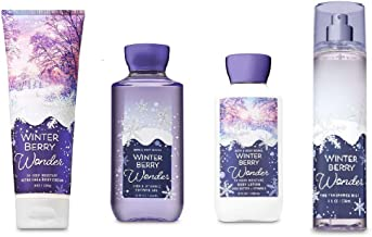 Bath and Body Works Holiday Traditions Winterberry Wonder 4 Piece Gift Set 10 Oz Shower Gel, 8 Oz Body Lotion, 8 Oz Fragrance Mist and 8 Oz Ultra Shea Body Cream