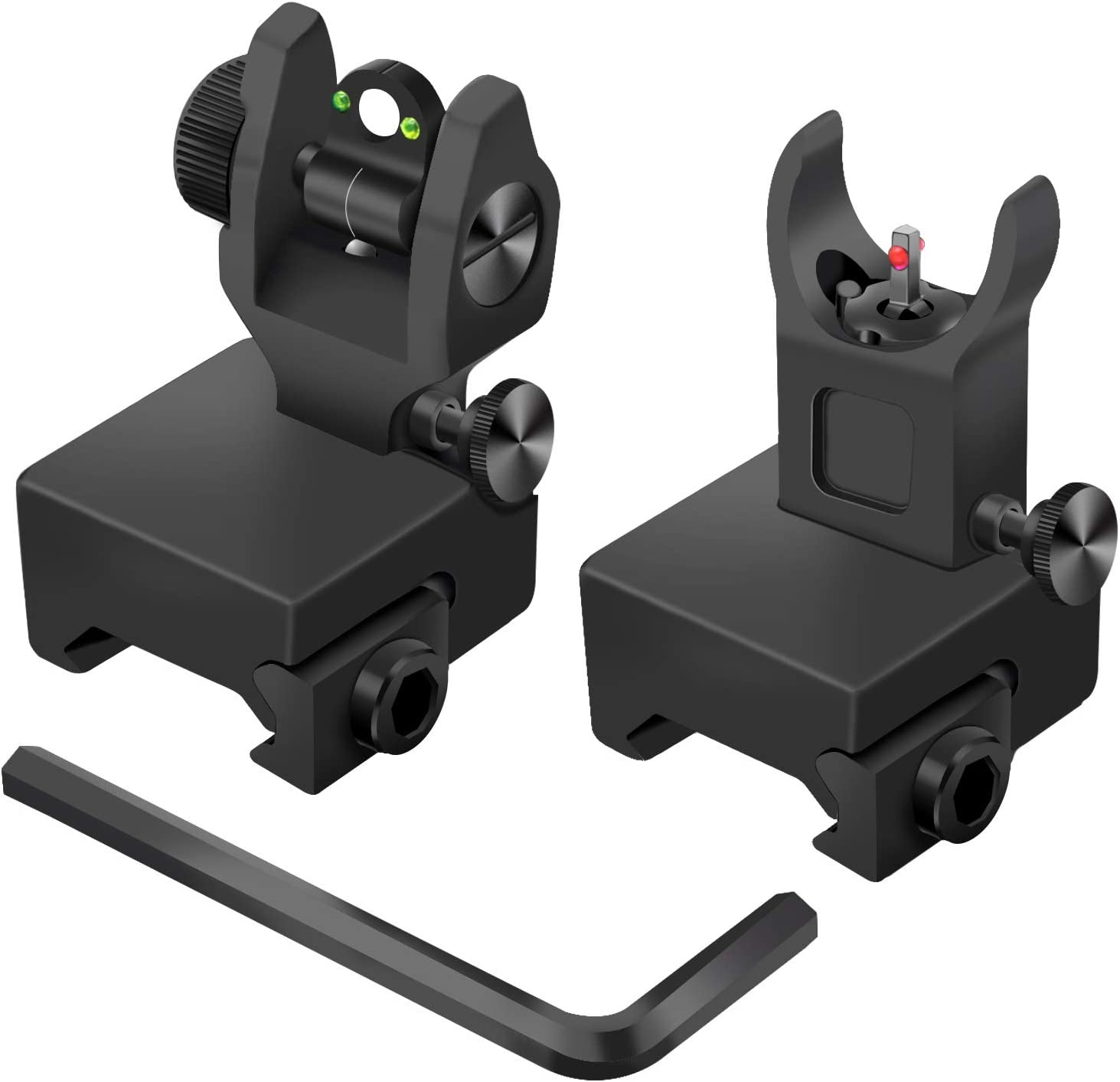 AWOTAC Tactical Fiber Optics Low Profile Sight Iron Flip Free shipping anywhere in the nation NEW before selling with up