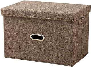 Boîte De Rangement Domestique Grande Capacité Avec Couvercle, Rangement Pliable En Tissu Oxford Et Récipient De Finition A...