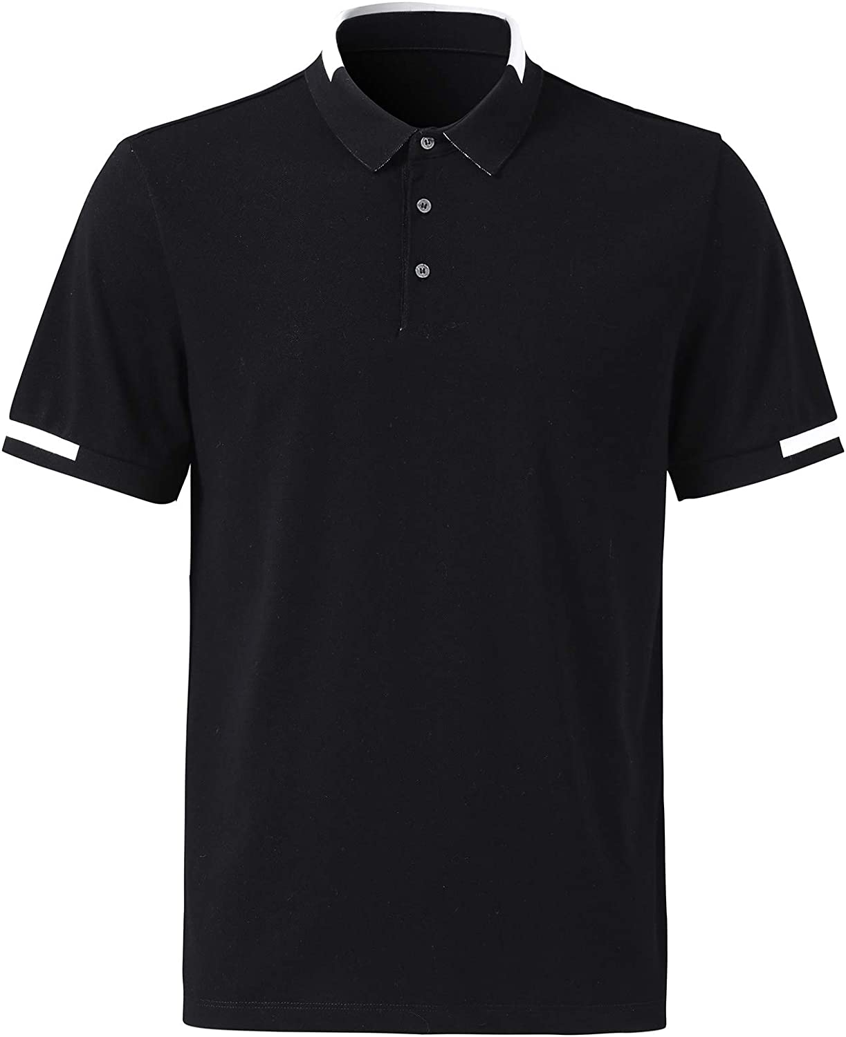 Men's Classic Ranking TOP1 Short Sleeve Ranking integrated 1st place Solid Polo Sports Golf Casual T-Shirt