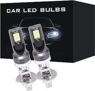 GZCRDZ 1 Pair H4 H7 H1 H3 9005 9006 48W 3030 12LED Fog Light Bulbs Car Driving Lamp DRL 6500K HID White 2000LM (H1)