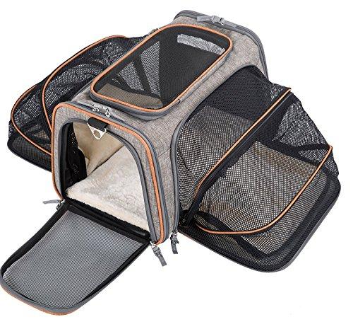Movepeak - Trasportino per cani, gatti, cuccioli, approvato da compagnie aeree, espandibile, morbido, soffice, portatile, a forma di borsa