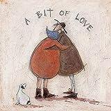 Sam Toft WDC91670 Kunstdruck auf Leinwand, 30 x 30 cm (A Bit of Love), Mehrfarbig, 30 x 30 cm